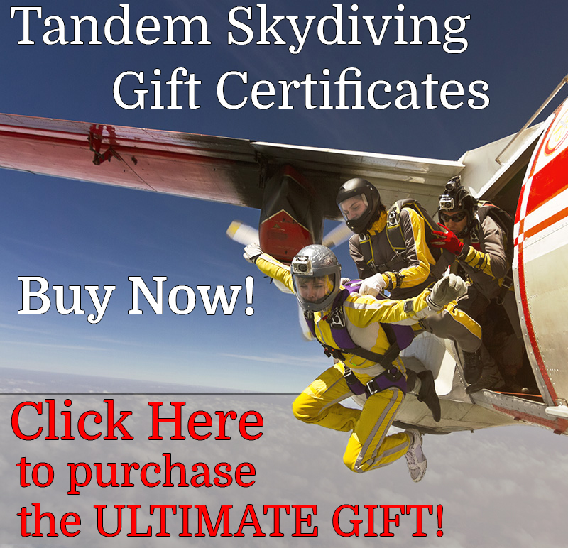 Atlanta Skydiving Gift Certificates
